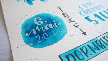 Geburtsbild blau Detail