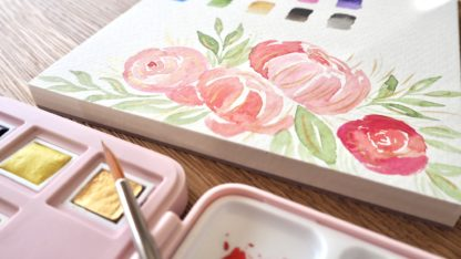 Floral Watercolor Paper 15x15cm