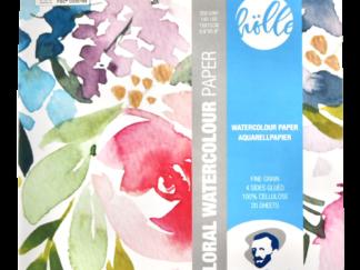 Floral Watercolor Paper 15x15cm