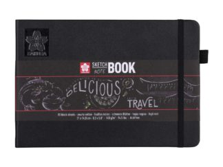 SAKURA Sketch Note Book, black, 21x14,8 cm