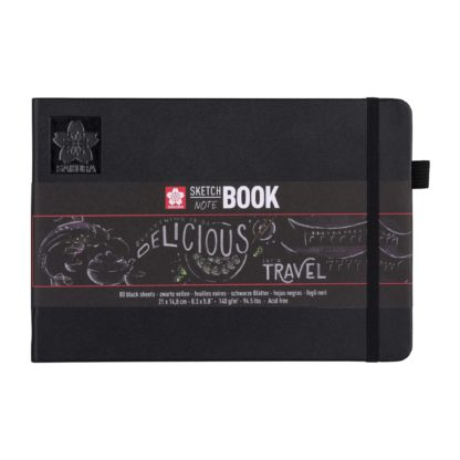SAKURA Sketch Note Book, black, 21x14,8 cm