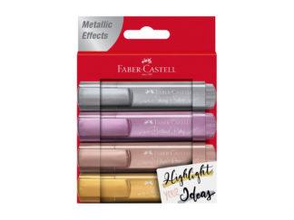 Faber-Castell Metallic Textmarker 4er Set