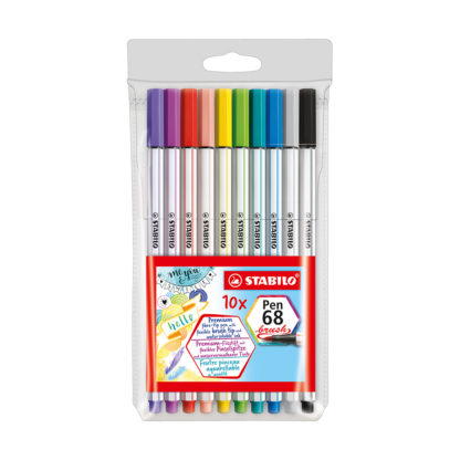 Stabilo Pen 68 Brush, 10er Set