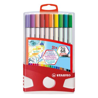 Stabilo Pen 68 Brush, 20er Set