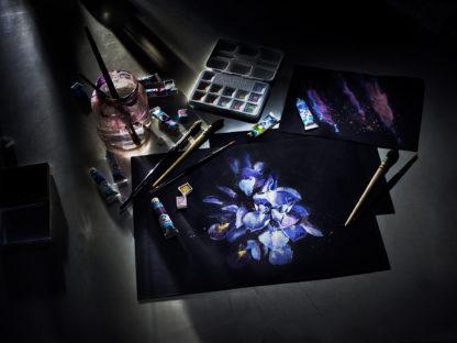 Van Gogh Aquarellpapier A4 schwarz