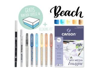 Kreativ-Set Karin Marker Blending Farbpalette Beach