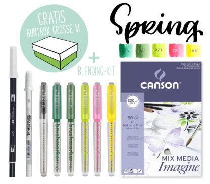 Kreativ-Set Karin Marker Blending Farbpalette Spring