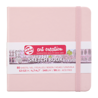 Talens Art Creation Sketch Book 12x12 cm pastel pink