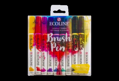 Talens Ecoline Brush Pen 10er-Set Handlettering