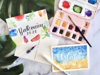 Watercolor Urlaubsset
