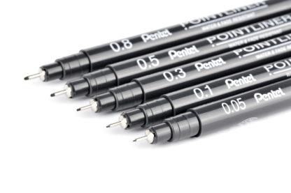 Pentel Pointliner 5er Set