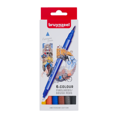 Bruynzeel Creatives 6 Fineliner Brush pen set