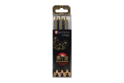 Sakura Pigma Micron Fineliner Black&Gold Edtion 3er Set