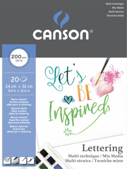 Canson Lettering Mix Media Block